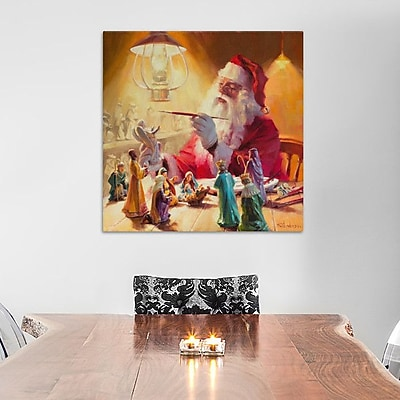 Alcott Hill Santa More Than Toys Painting Print on Wrapped Canvas; 18'' H x 18'' W x 0.75'' D