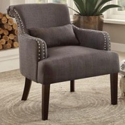 Alcott Hill Louis Arm Chair; Chocolate