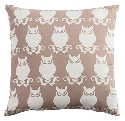 Alcott Hill Winchester Cotton Duck Throw Pillow; Taupe