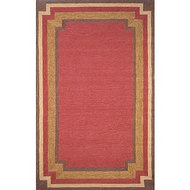 August Grove Dazey Red Border Outdoor Rug; 3'6'' x 5'6''