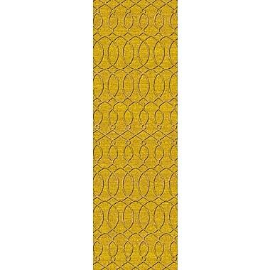 Alcott Hill Grange Yellow Area Rug; Runner 2'6'' x 8'