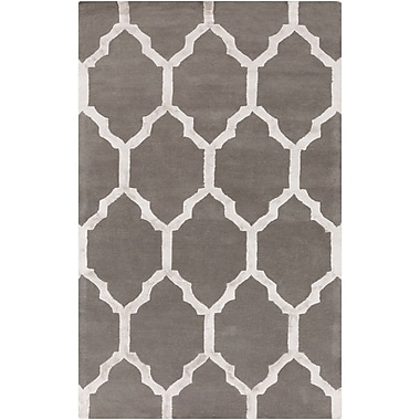 Alcott Hill Shannon Hand-Tufted Charcoal/Medium Gray Area Rug; 8' x 10'