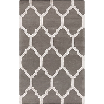 Alcott Hill Shannon Hand-Tufted Charcoal/Medium Gray Area Rug; 2' x 3'