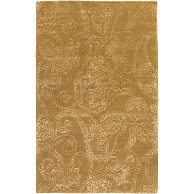 Alcott Hill Laurita Hand-Tufted Tan/White Area Rug; 5' x 8'