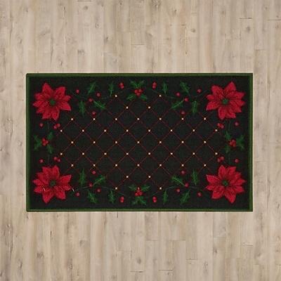 Alcott Hill Christmas Poinsettia Doormat