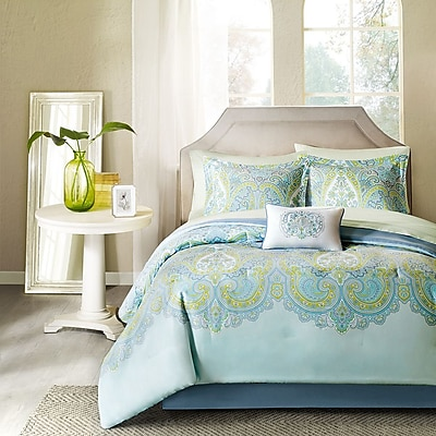 Alcott Hill Celeste Complete Comforter and Cotton Sheet Set; Queen