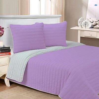 Alcott Hill Lynnhaven 3 Piece Reversible Quilt Set; Lavender
