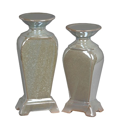 Alcott Hill 2 Piece Cermaic Candle Stick Set