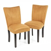 Alcott Hill Willington Parsons Chair (Set of 2); Gold Ochre