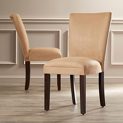 Alcott Hill Willington Parsons Chair (Set of 2); Taupe