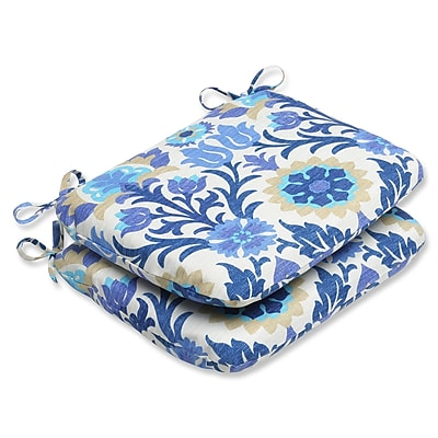 Alcott Hill Rockhill Outdoor Seat Cushion (Set of 2); Azure