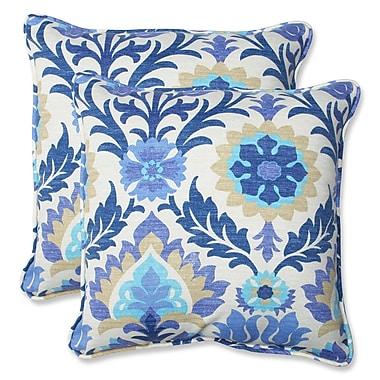 Alcott Hill Rockhill Indoor/Outdoor Throw Pillow (Set of 2); Azure