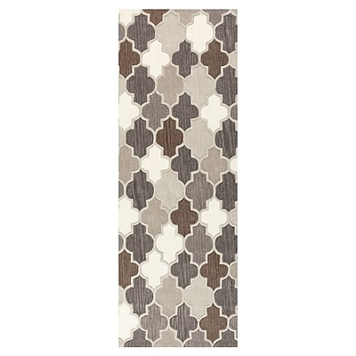 Alcott Hill Billmont Safari Tan/Elephant Area Rug; Runner 2'6'' x 8'