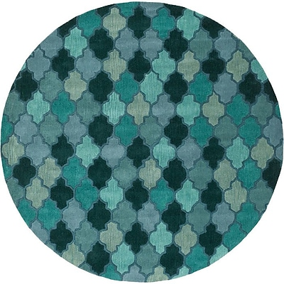 Alcott Hill Billmont Fores Green Geometric Area Rug; 3'3'' x 5'3''