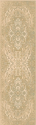 Alcott Hill Redding Beige/Gray Area Rug; Runner 2'7'' x 7'3''