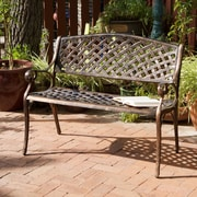 Alcott Hill Clifford Cast Aluminum Garden Bench