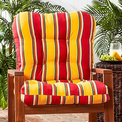 Alcott Hill Outdoor Lounge Chair Cushion; Carnival Stripe