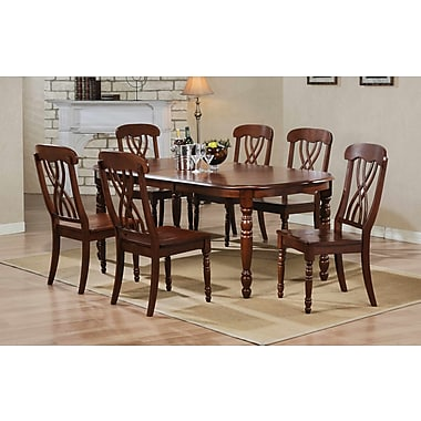 Alcott Hill Corell Park Dining Table; Derby Brown