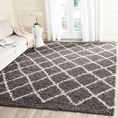 Alcott Hill Laurelville Dark Gray/Ivory Area Rug; 8'6'' x 12'