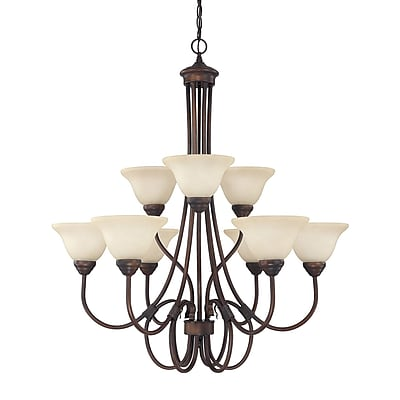 Alcott Hill Selby 9-Light Shaded Chandelier