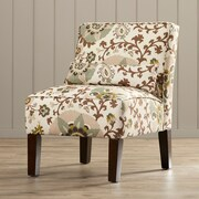 Alcott Hill Thurston Uphosltered Slipper Chair; Silsila Rhinestone