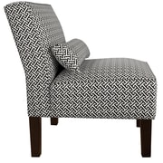 Alcott Hill Thurston Uphosltered Slipper Chair; Licorice