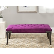 Alcott Hill Adele Tufted Two Seat Bench; Cotton Plum
