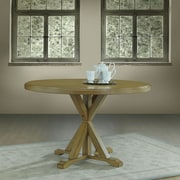 Alcott Hill Fanning X Base Dining Table; Harvest Oak