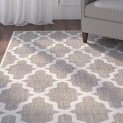 Alcott Hill Sidell Taupe Area Rug; 5'3'' x 7'6''