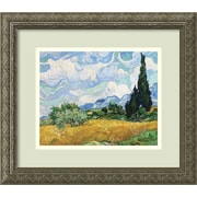 Alcott Hill 'Wheatfield w/ Cypresses' by Vincent van Gogh Framed Painting Print