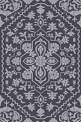 Astoria Grand L'Ermitage Hand-Knotted Blue Area Rug; 5' x 7'6''