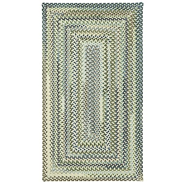 August Grove Florence Beige Area Rug; Concentric Square 5'6''
