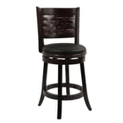 Alcott Hill Ansari 24'' Swivel Bar Stool w/ Cushion; Cappuccino