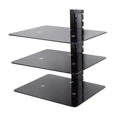 AVF – Étagère murale (AS300-A) pour accessoires AV - réglables - 3 tablettes, noir