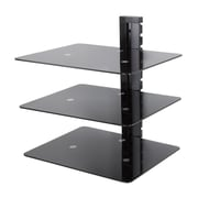 AVF (AS300-A) AV Wall Shelf - Adjustable - 3 Shelf, Black