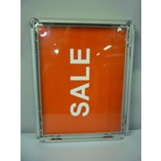 Eddie's Hang-Up Display Ltd. - Support pour affiche avec cadre encliquetable, 8 1/2 x 11 po, aluminium, 10/paquet (137012)