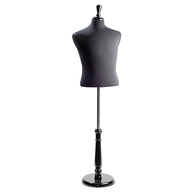 Eddie's Hang-Up Display Ltd. Male Shirt Form, Neck Block, Black Jersey, Tall Base (154009)