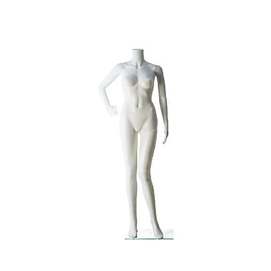 Eddie's Hang-Up Display Ltd. Headless Female Mannequin, 1 Bent Arm, White (150506)