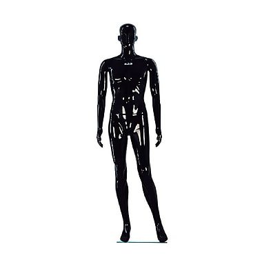 Eddie's Hang-Up Display Ltd. Glossy Abstract Male Mannequin, Two Straight Arms, Black (150552)