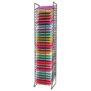 Eddie's Hang-Up Display Ltd. Scrap Book Paper Rack, 30 Slots, Black (214950)