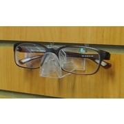 Eddie's Hang-Up Display Ltd. Slatwall Eyeglass Display, Folded, Clear, 50/Pack (177100)