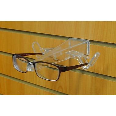 Eddie's Hang-Up Display Ltd. Slatwall Eyeglass Display, Extended, Clear, 30/Pack (177101)