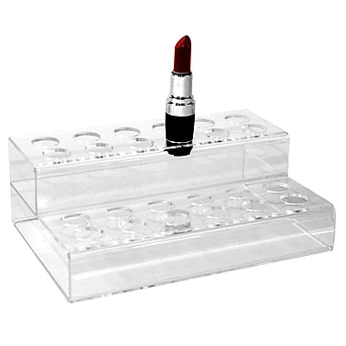 Eddie's Hang-Up Display Ltd. Lipstick Countertop Display, Acrylic, Clear, 25/Pack (165017)