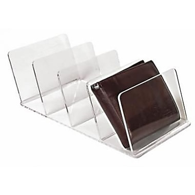 Eddie's Hang-Up Display Ltd. Wallet Holder, Acrylic, Clear, 4 Slots, 10/Pack (165005)