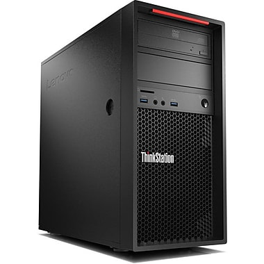 Lenovo 30B3001QUS ThinkStation P410 Tower Desktop Computer, 3.1 GHz Intel Xeon E5-1607, 1 TB HDD, 8 GB, Win10 Pro