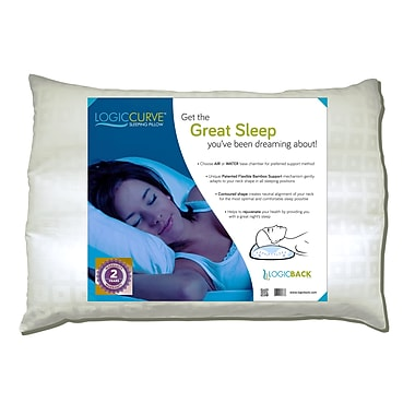 Logic Curve (LC01) Air Or Water Base Adjustable Pillow, Bamboo Support