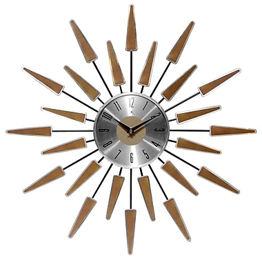 Infinity Instruments 23'' Wall Clock, Satellite (15196WL-4127)