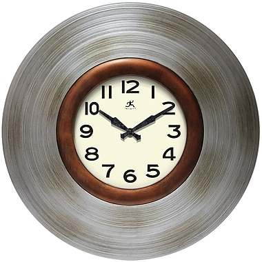 Infinity Instruments 22'' Wall Clock, Mid-Century (15194AS-4124)