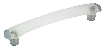 Richelieu 5 1/32'' Center Bar Pull; Frosted Clear