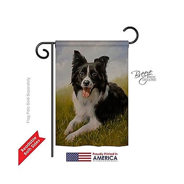TwoGroupFlagCo Border Collie 2-Sided Vertical Flag; 18.5'' H x 13'' W